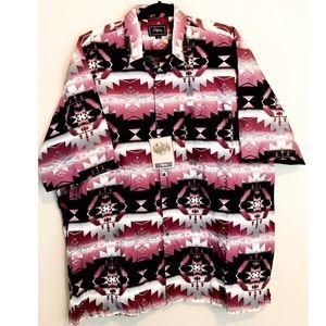 NWT Roper Western Navajo Print Shirt Pearl Snap